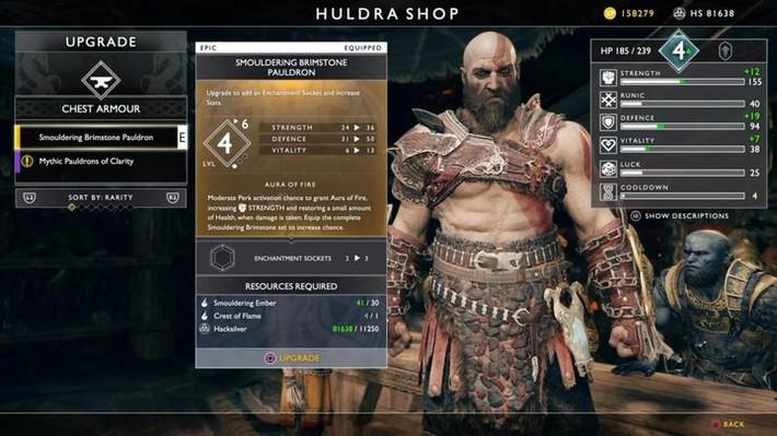 God of War - какую экипировку лучше всего создавать у кузнеца