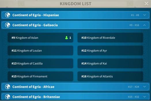 Rise of Kingdoms - как сменить сервер и королевство