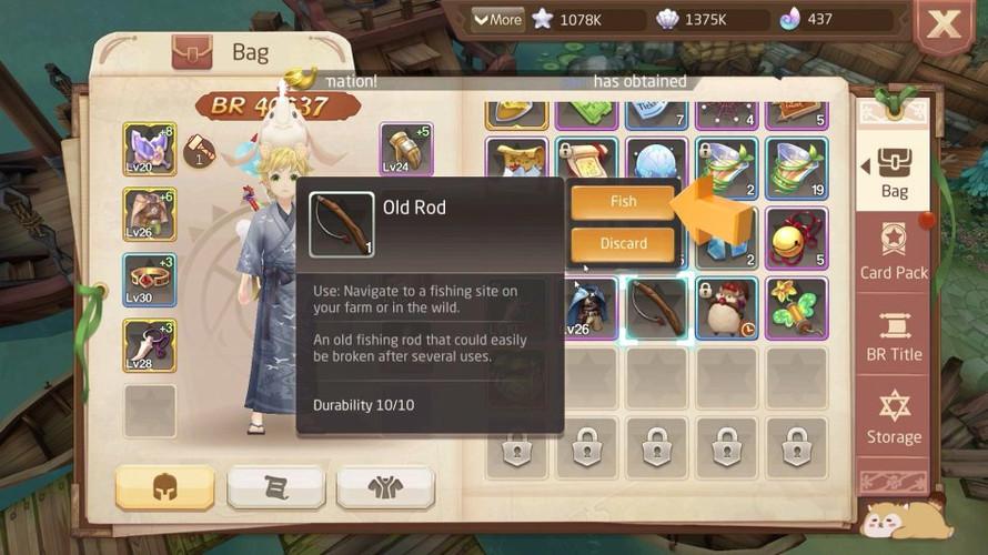 Tales of Wind - как ловить рыбу
