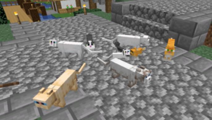Minecraft 1.14 - как приручить и разводить кошек и лис