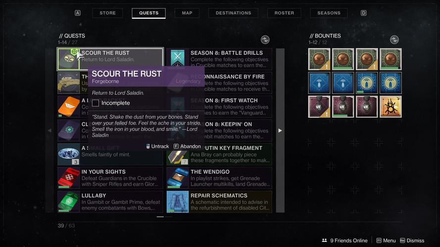 Destiny 2 - прохождение Уничтожение ржавчины Железного знамени 8 сезон