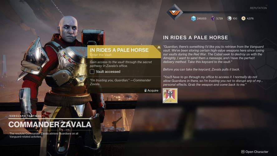 Destiny 2 - как получить дробовик Четвертый всадник
