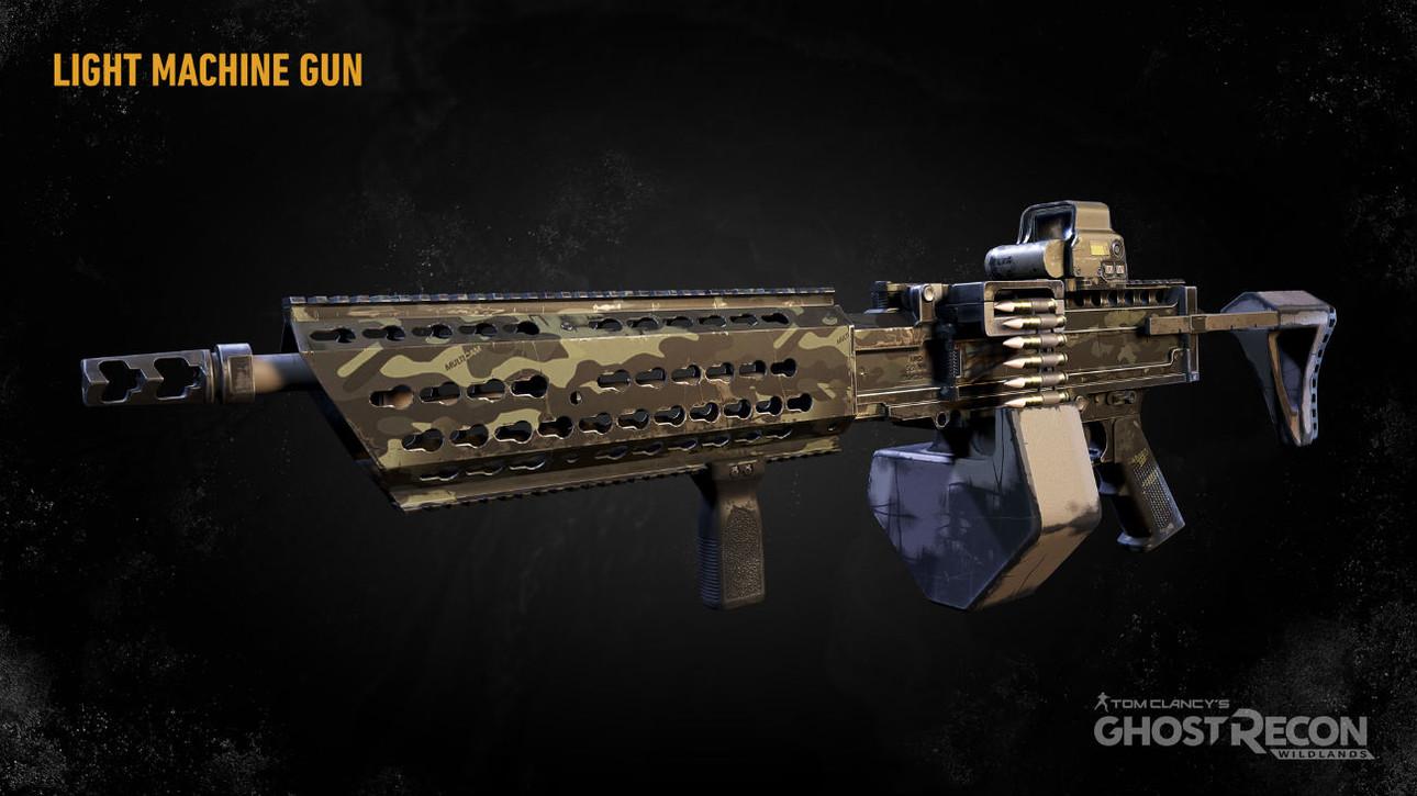 Легкие (ручные) пулеметы в Ghost Recon: Wildlands