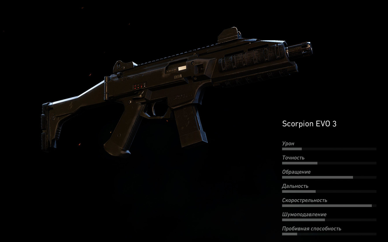 Scorpion EVO 3 (Пистолет-пулемет) в Ghost Recon: Wildlands