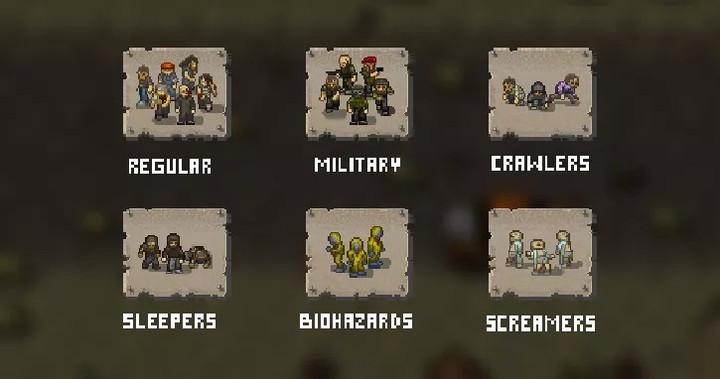 Гайд Mini DayZ. Виды зомби