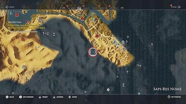 Где найти Храм Храм Миллиона лет в Assassin's Creed Origins