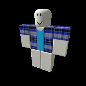 Синяя клетчатая рубашка