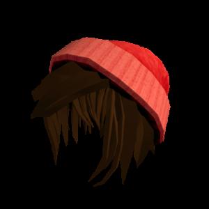 Красная шапка с волосами