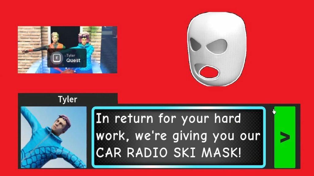 Лыжная маска Twenty One Pilots в Roblox