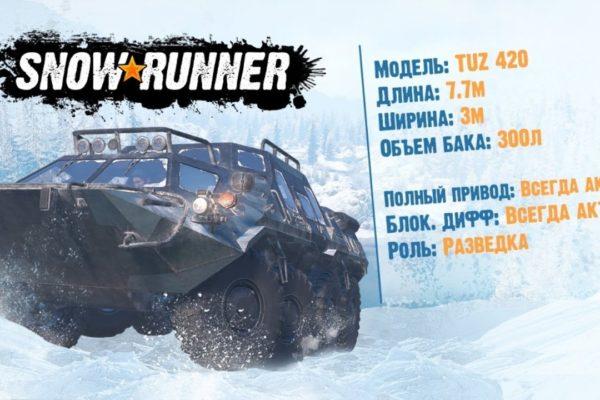 Snowrunner - где найти TUZ 420 Татарин