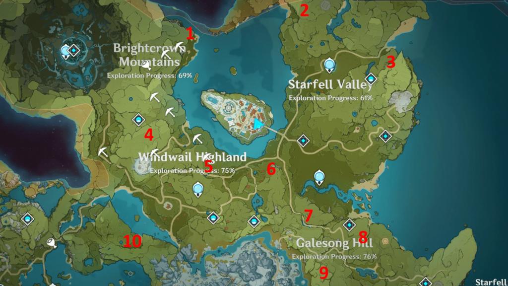 Genshin Impact карта усыпальниц глубин