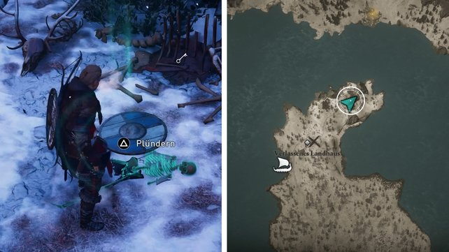 Assassin's Creed Valhalla - ключ от сундука в заброшенном доме
