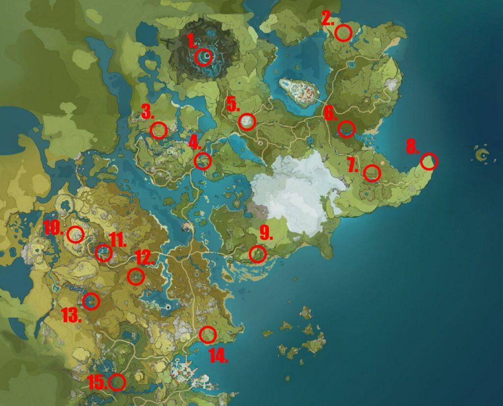 Genshin Impact - где найти Странных Хиличурлов