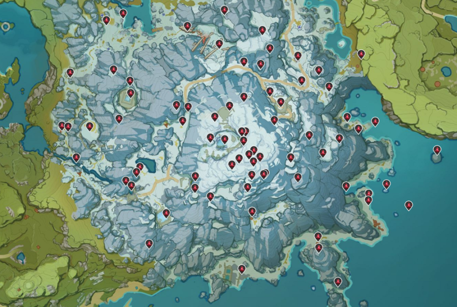 Genshin Impact - где найти Багровый агат