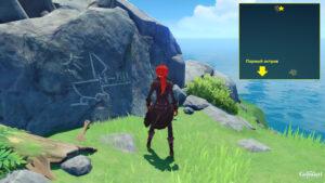 Genshin Impact - где найти рисунки на стенах в квесте Другая сторона острова и моря